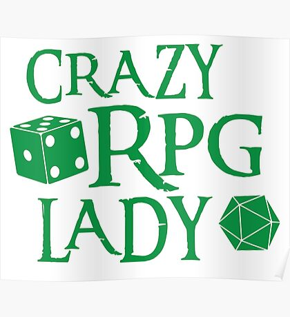 CRAZY RPG Lady Poster