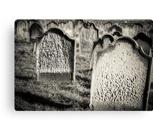 Tomb stones  Canvas Print