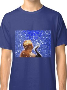 Blond girl is blowing snowflakes Classic T-Shirt