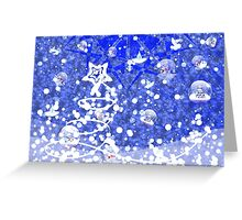 Blue Christmas background Greeting Card