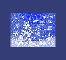 Blue Christmas background Unisex T-Shirt