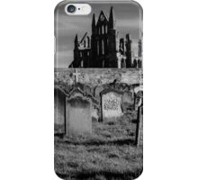 Whitby Abbey and cemetery during the night  iPhone Case/Skin
