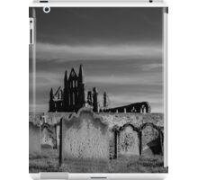 Whitby Abbey and cemetery during the night  iPad Case/Skin