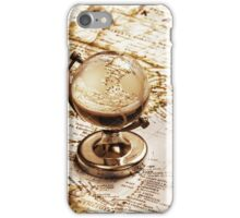 Old fashioned glass globe iPhone Case/Skin