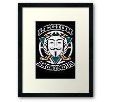 Legion Anonymous  Framed Print