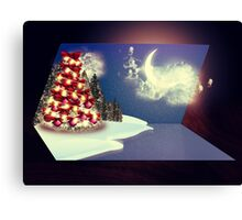 Christmas tree magic card Canvas Print