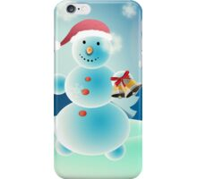 Snowman and Christmas tree iPhone Case/Skin
