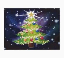 Cartoon Christmas tree background Kids Clothes