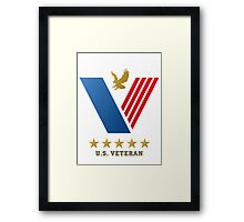 U.S. VETERAN....thank you for your service! Framed Print