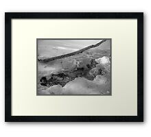 Bend in the Ice Monochrome Framed Print