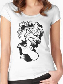 Gnarled Skull - A84 Women's Fitted Scoop T-Shirt