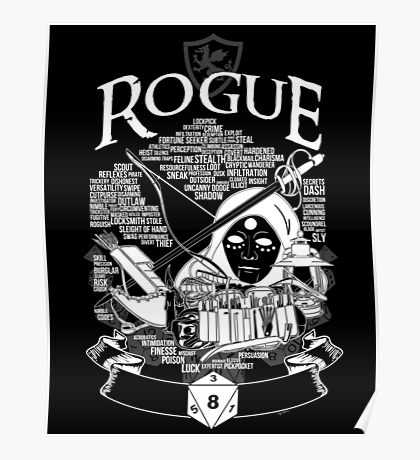RPG Class Series: Rogue - White Version Poster