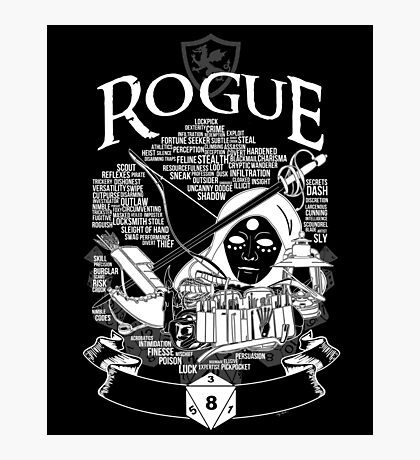 RPG Class Series: Rogue - White Version Photographic Print