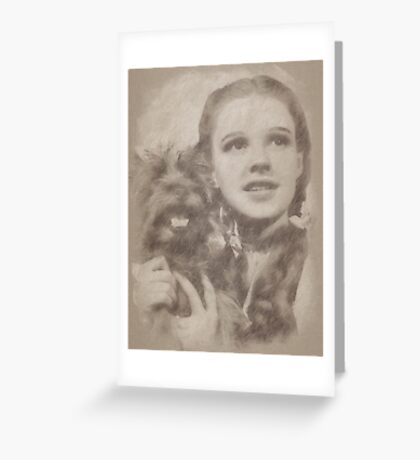 Judy Garland Vintage Hollywood Actress as Dorothy in The Wizard of Oz Greeting Card