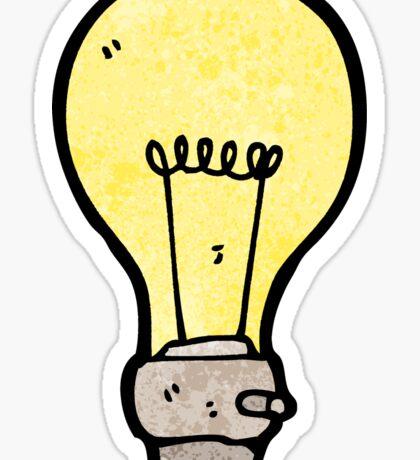 cartoon light bulb Sticker