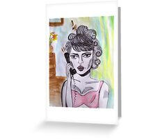 I am busy now man! Greeting Card