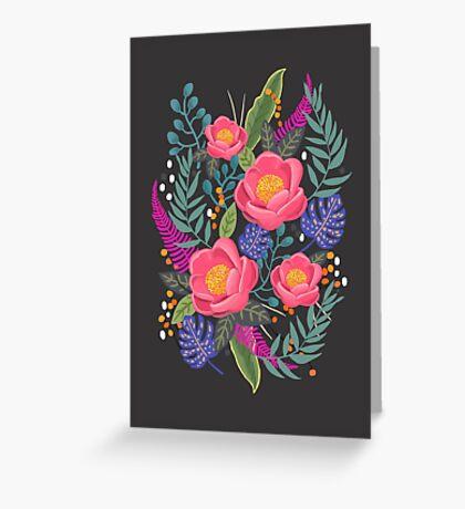 Night Blossom art print Greeting Card