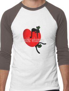 Double cat whammy cool t- shirt design Men's Baseball ¾ T-Shirt