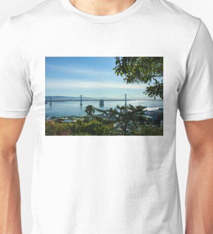 That Other Bridge in San Francisco - Bay Bridge Framed by Trees Unisex T-Shirt