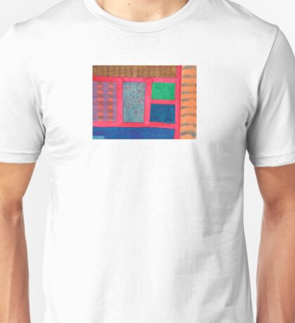 Different Elements between a Scarlet Grid  Unisex T-Shirt