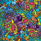 Psychedelic jungle pattern by Andrei Verner