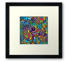 Psychedelic jungle pattern Framed Print