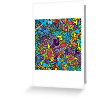 Psychedelic jungle pattern Greeting Card
