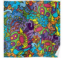 Psychedelic jungle pattern Poster