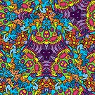 Psychedelic jungle kaleidoscope ornament 30 by Andrei Verner
