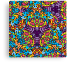 Psychedelic jungle kaleidoscope ornament 30 Canvas Print