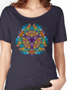 Psychedelic jungle kaleidoscope ornament 30 Women's Relaxed Fit T-Shirt