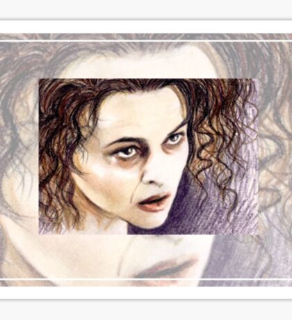 Helena Bonham-Carter miniature  HBC3 Sticker