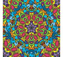 Psychedelic jungle kaleidoscope ornament 31 Photographic Print
