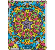 Psychedelic jungle kaleidoscope ornament 31 iPad Case/Skin