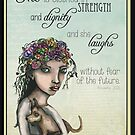 She is clothed with strength and dignity by Jenny Wood