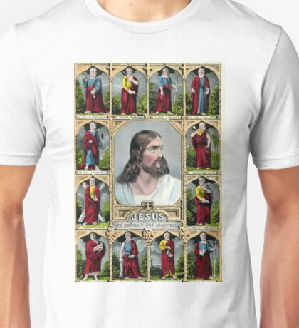 Jesus and the twelve apostles - 1847 - Currier & Ives Unisex T-Shirt