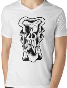 Gnarled Skull - A85 Mens V-Neck T-Shirt