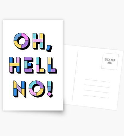 Hell no Greeting Card