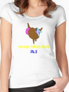 jeremy hillary boob Women's Fitted Scoop T-Shirt