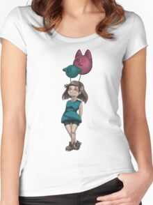 My friends the balloons Women's Fitted Scoop T-Shirt