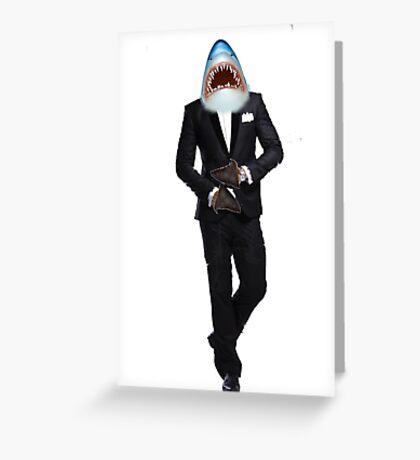 SHARK IN TUXEDO MAN Greeting Card