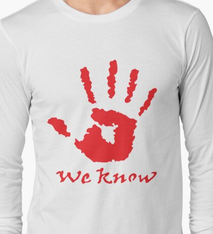 We Know Letter - The Dark Brotherhoo Shirt Long Sleeve T-Shirt