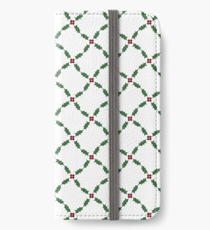 Jolly Holly Diagonal iPhone Wallet/Case/Skin