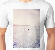 Surfers in the snow. Unisex T-Shirt