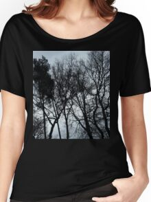 Black trees Women's Relaxed Fit T-Shirt