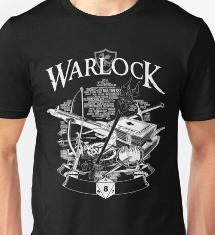 RPG Class Series: Warlock - White Version Unisex T-Shirt