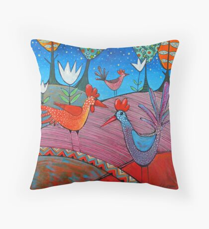 Farmyard friends Throw Pillow