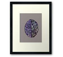 Purple Brains Framed Print