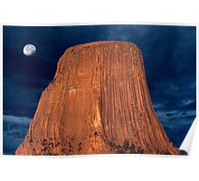 Sunrise over Devils Tower Poster