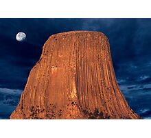 Sunrise over Devils Tower Photographic Print